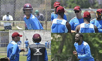 Windies Training at Queen's Sports Club Today