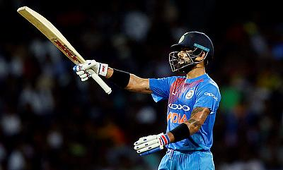 Virat Kohli was named the player of the series against New Zealand
