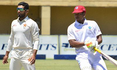 Sikandar Raza (left) had a fantastic game for Zimbabwe