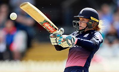 Lauren Winfield top scored for England in the first innings