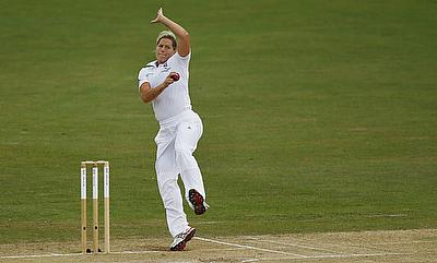 Katherine Brunt picked four wickets in the innings