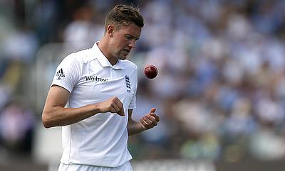 Jake Ball bowled just 22 deliveries on day two