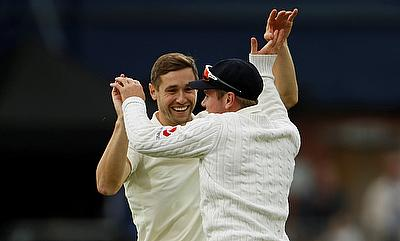 Chris Woakes (left) looked in tremendous form with the ball