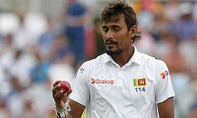 Suranga Lakmal made full use of the conditions at Eden Gardens