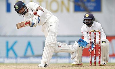 Virat Kohli (left) continues his dominance