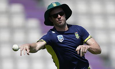 AB de Villiers suffered a finger injury