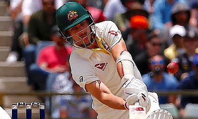 Pat Cummins scored an unbeaten fifty for Australia