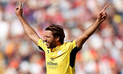 Shahid Afridi picked three wickets in the game