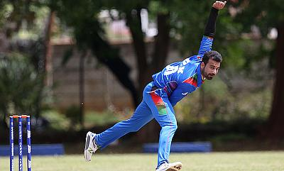 Dawlat Zadran in action for Afghanistan