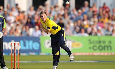 Liam Dawson impressed with a three-wicket haul