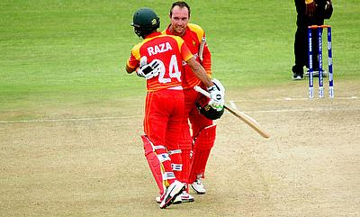 Sikandar Raza (left) and Brendan Taylor played terrific innings
