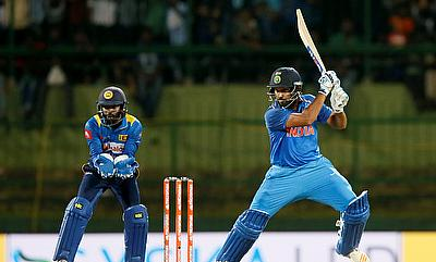 Rohit Sharma (right) will lead India in the upcoming tri-series
