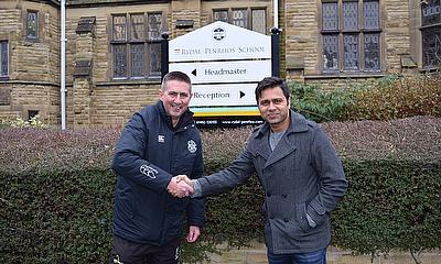 Aakash Chopra with Deputy Head Tim Cashell