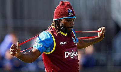 West Indies Chris Gayle in Training