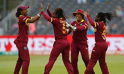 West Indies Women Celebrating