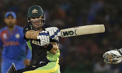 Australia's Shane Watson plays a shot