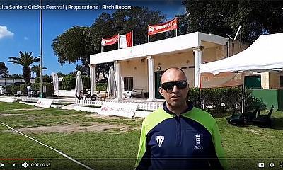 Malta Seniors Cricket Festival - Preparations  and Pitch Report