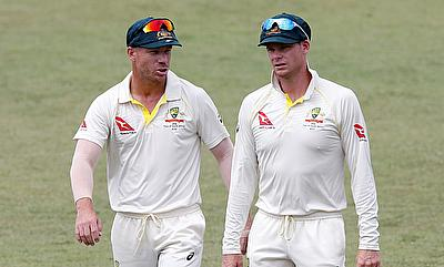 Steven Smith (right) faces scrutiny after the ball tampering scandal broke out