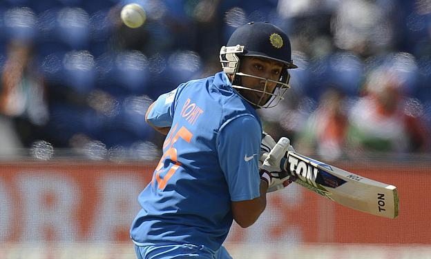 Rohit Sharma plays a shot