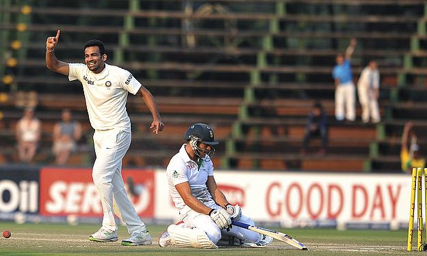 Zaheer Khan celebrates a wicket
