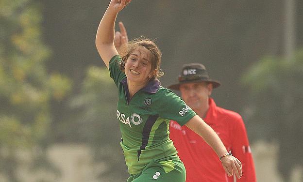Amy Kenealy celebrates a wicket