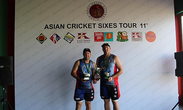 Wolfpack's Matt Jenkin player of the tournament (left) and Will Badger Spirit of Cricket award winner