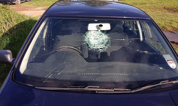 Ball + windscreen = serious problem