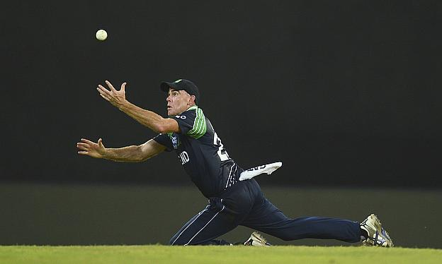 Trent Johnston attempts a catch