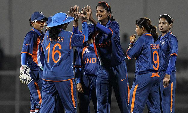 India Women celebrate