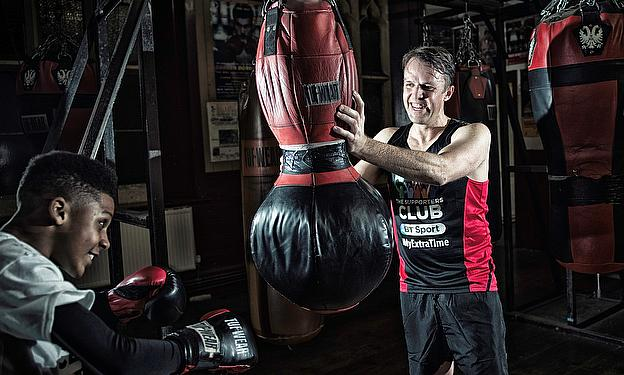 Graeme Swann took on the punchbags during his time in Bristol