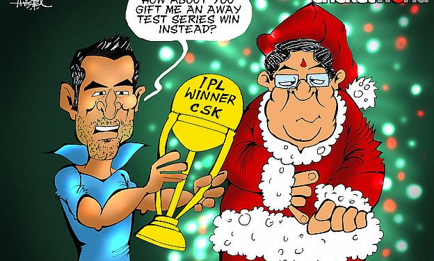Dhoni Not Happy With Santa Claus
