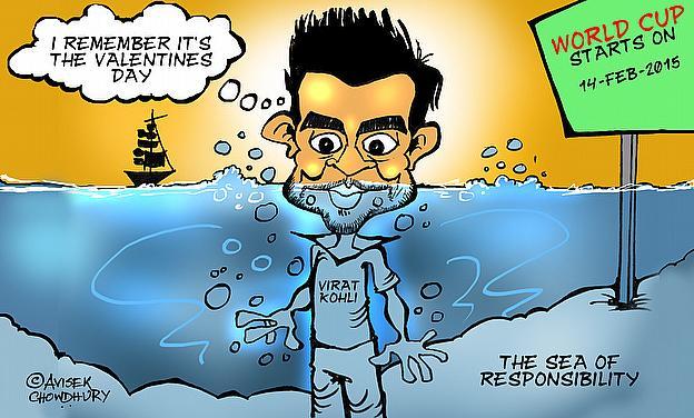 Cartoon: India Rely Heavily On Virat Kohli