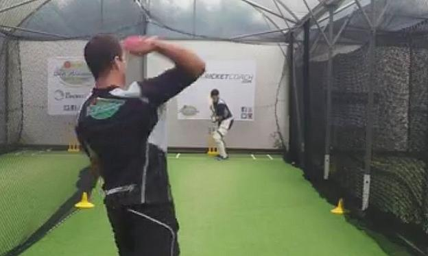 Ben Williams gives throw downs in the nets