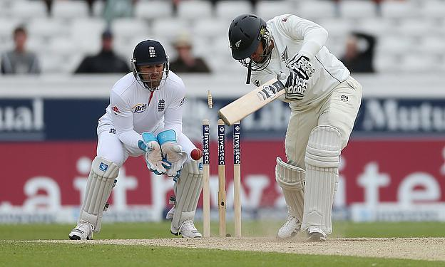 Ross Taylor is bowled