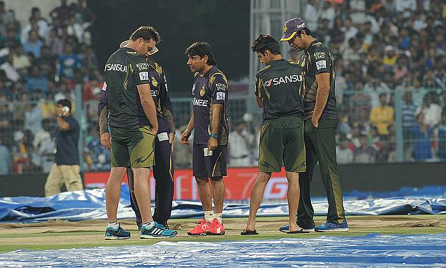 The Indian Premier League game between Rajasthan Royals and Kolkata Knight Riders at Eden Gardens, Kolkata was abandoned without a single ball being b