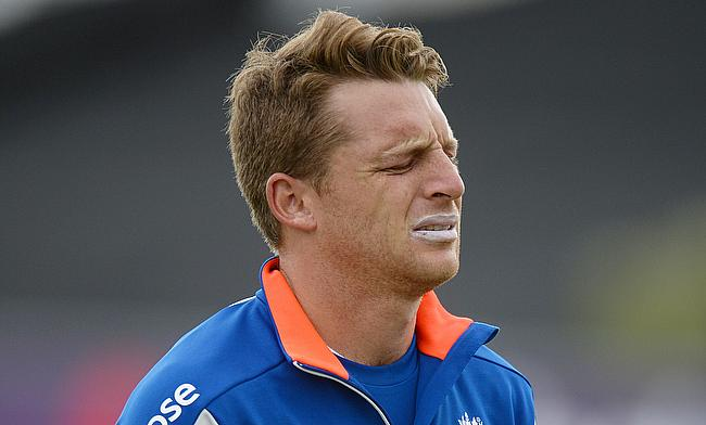 Jos Buttler leaves the nets injured ahead of the final ODI against New Zealand.