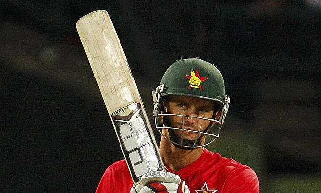 Craig Ervine scored an unbeaten 130 as Zimbabwe chased down a massive 303 to beat New Zealand by seven wickets in the first ODI in Harare.