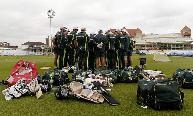 Australian players at Trent Bridge