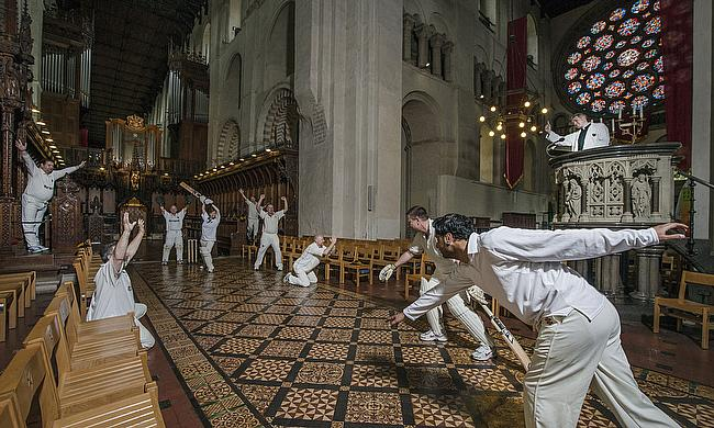 How is that?! Spot the umpire at St Albans Cathedral
