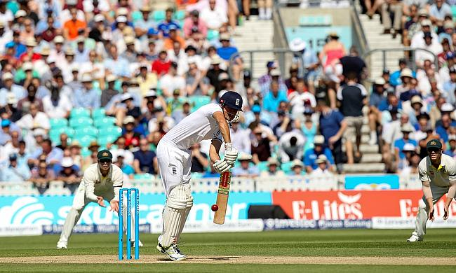Alastair Cook bats during Cricket United Day