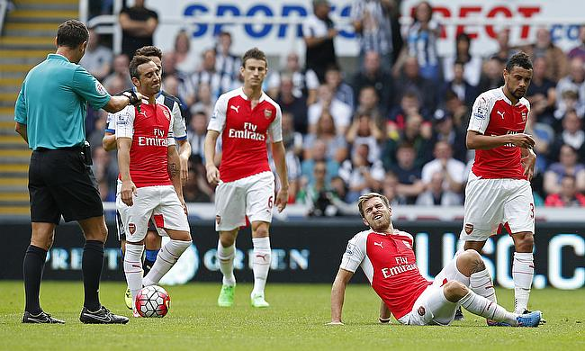 Action from Arsenal v Newcastle