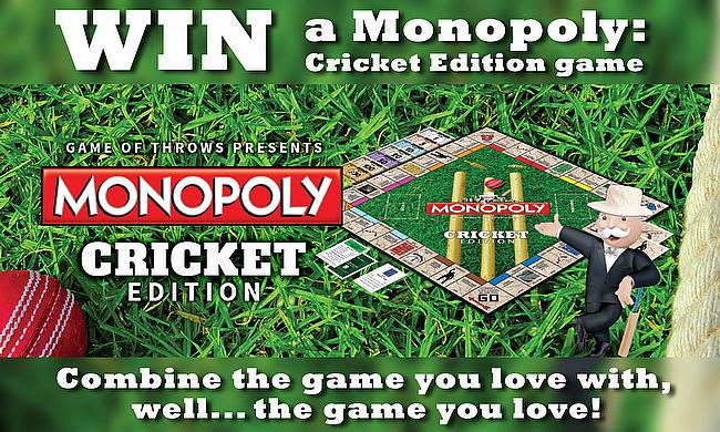 Win a Monopoly: Cricket Edition game