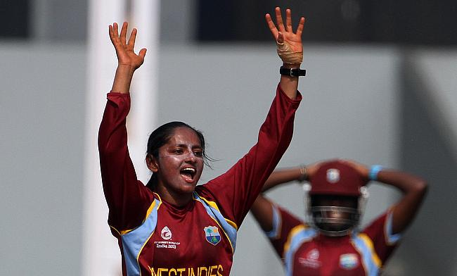 Anisa Mohammed appeals for a wicket