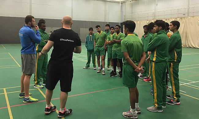 The Tenax team brief the Academy team on what they have lined up for them