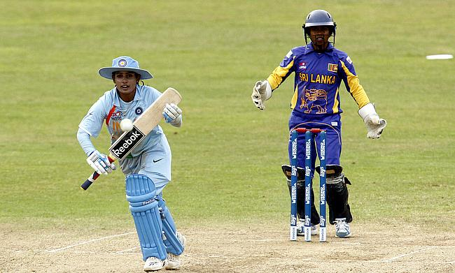 Mithali Raj (left) scored an unbeaten 51 for India in the chase.