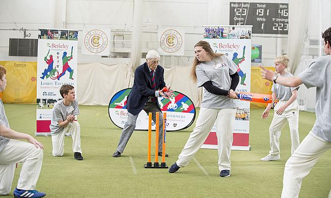 Sir Michael Parkinson, Lord's Taverners President, gets involved with Finals Day