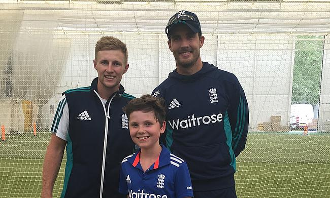 Ben pictured here with Joe Root and Steven Finn