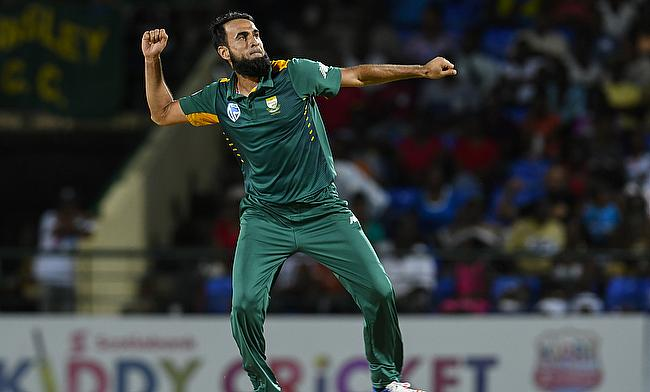 Imran Tahir became the fourth fastest bowler to reach 100 wickets in ODIs.