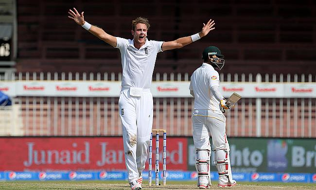 Stuart Broad in action against Pakistan last year