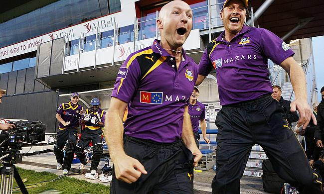 Adam Lyth hit quick runs, took three catches and bowled a tidy over as Yorkshire beat Lancashire